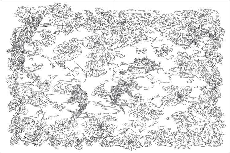 japanese garden coloring pages - photo #19