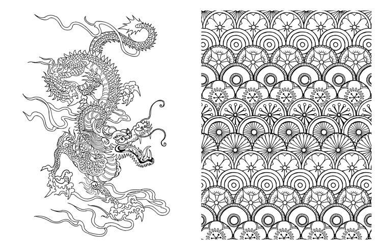 Japanese Adult Coloring Books Designs additionally Posh Adult Coloring ...
