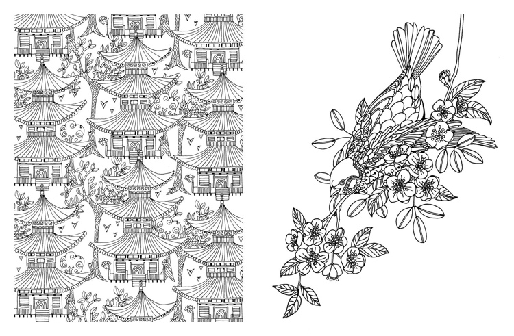 Coloring pages for adults japan : Japanese coloring books for adults cleverpedia