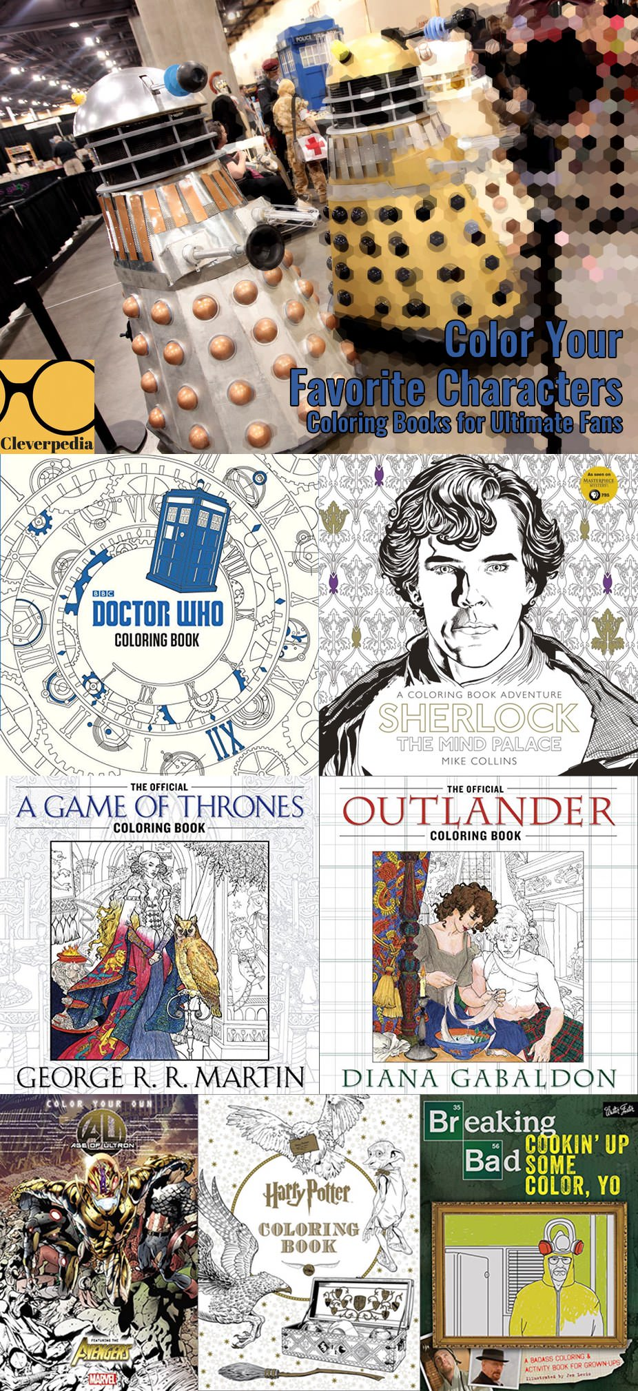 Color Your Favorite Characters Coloring Books For Fans