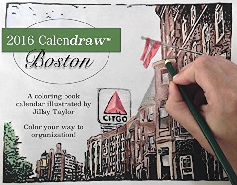 Calendraw Boston: Color Your Way to Organization (Coloring Book Calendar)
