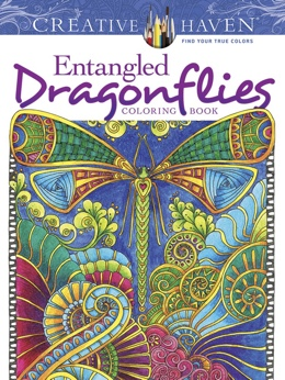 Featured new coloring book release: Entangled Dragonflies