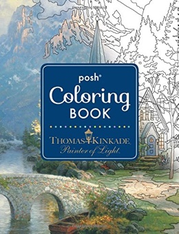 Featured new coloring book release: Thomas Kinkade Designs for Inspiration and Relaxation