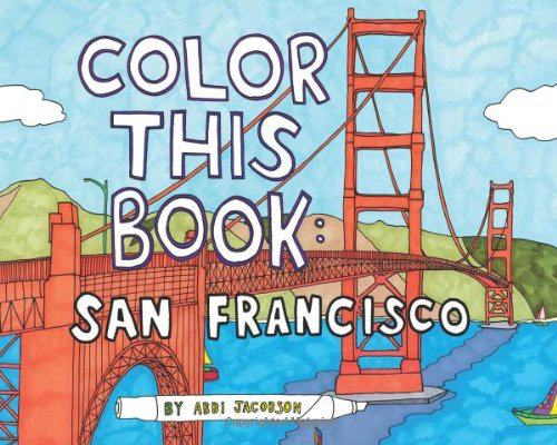 Coloring Book of San Diego, USA.