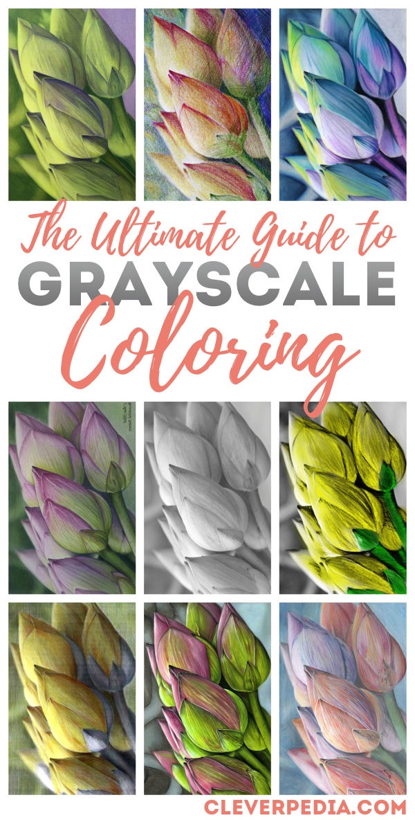 Grayscale Coloring Tutorial How To Color Grayscale Coloring Pages Cleverpedia